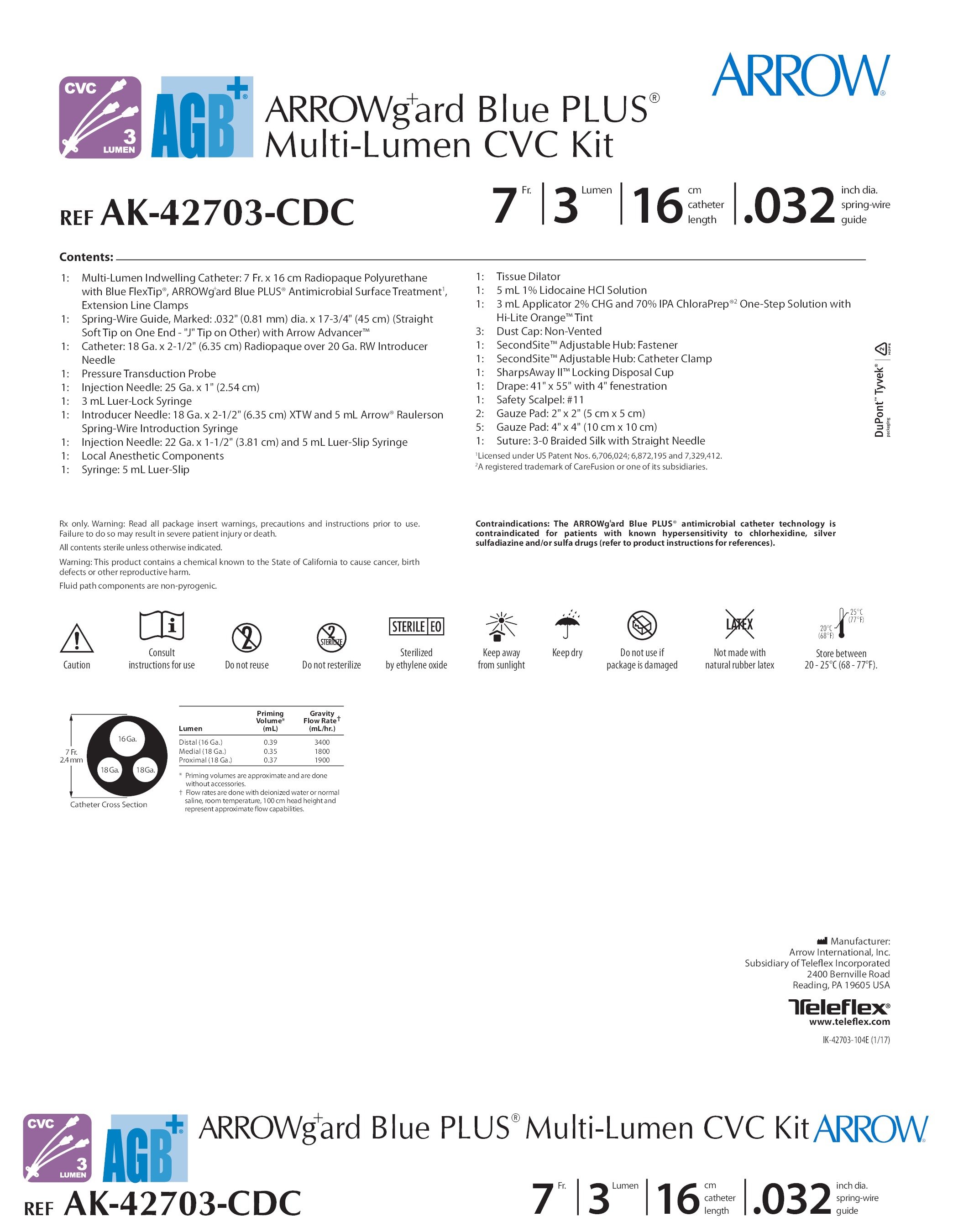 ak 42703 cdc teleflex incorporated vascular access product catalog