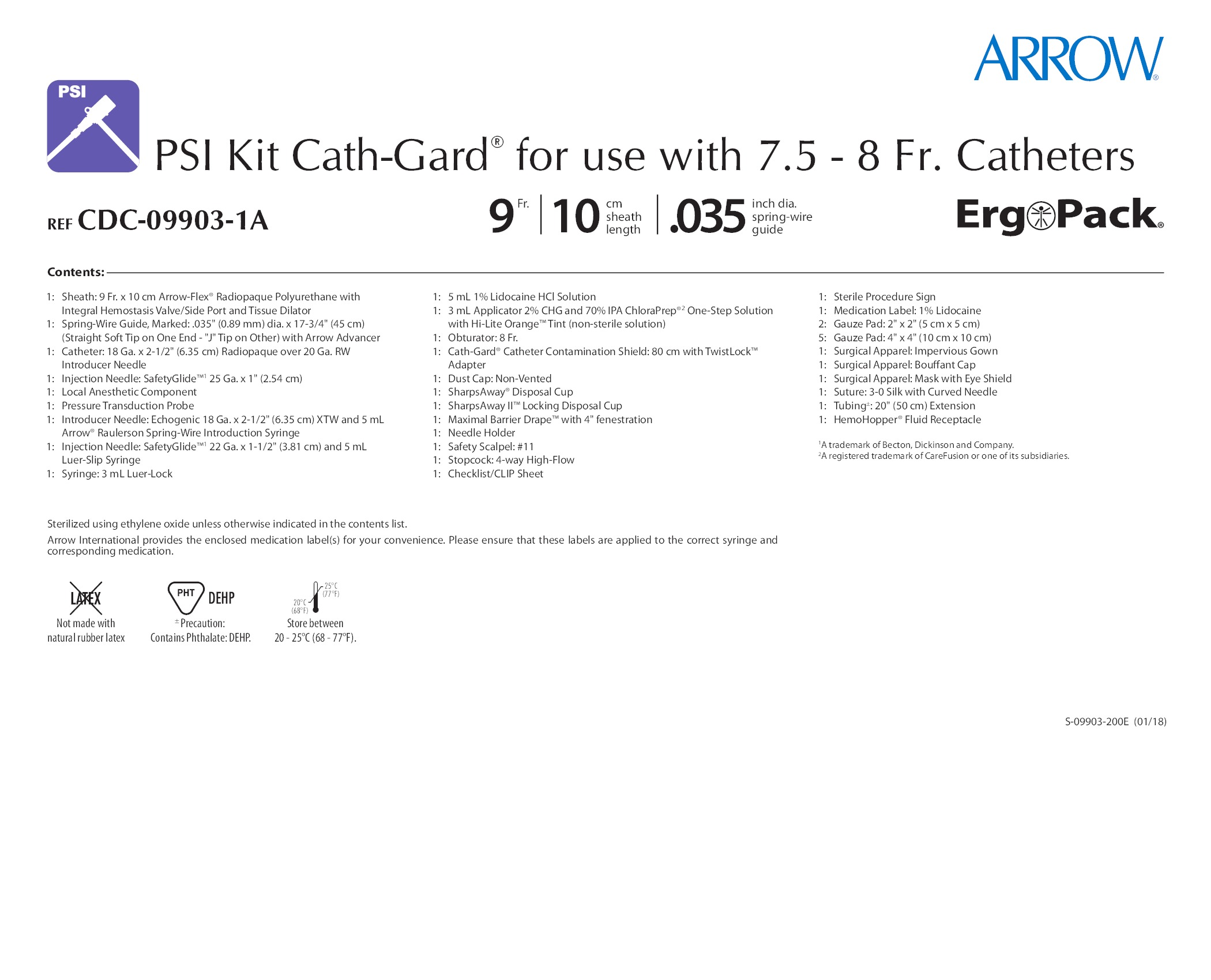 CDC-09903-1A - Teleflex Incorporated - Vascular Access