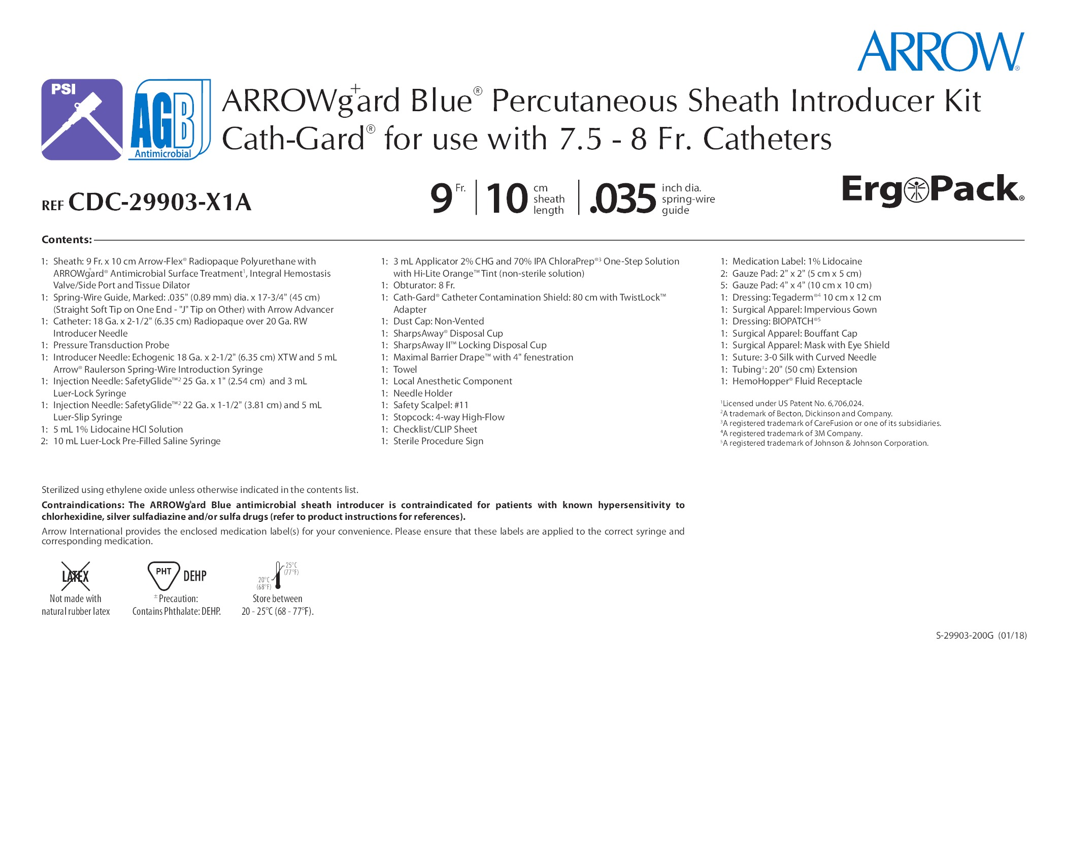 CDC-29903-X1A - Teleflex Incorporated - Vascular Access